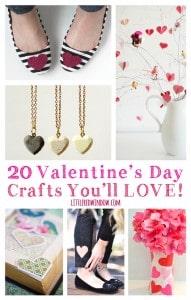 20 Valentine's Day Crafts You'll LOVE! | littleredwindow.com