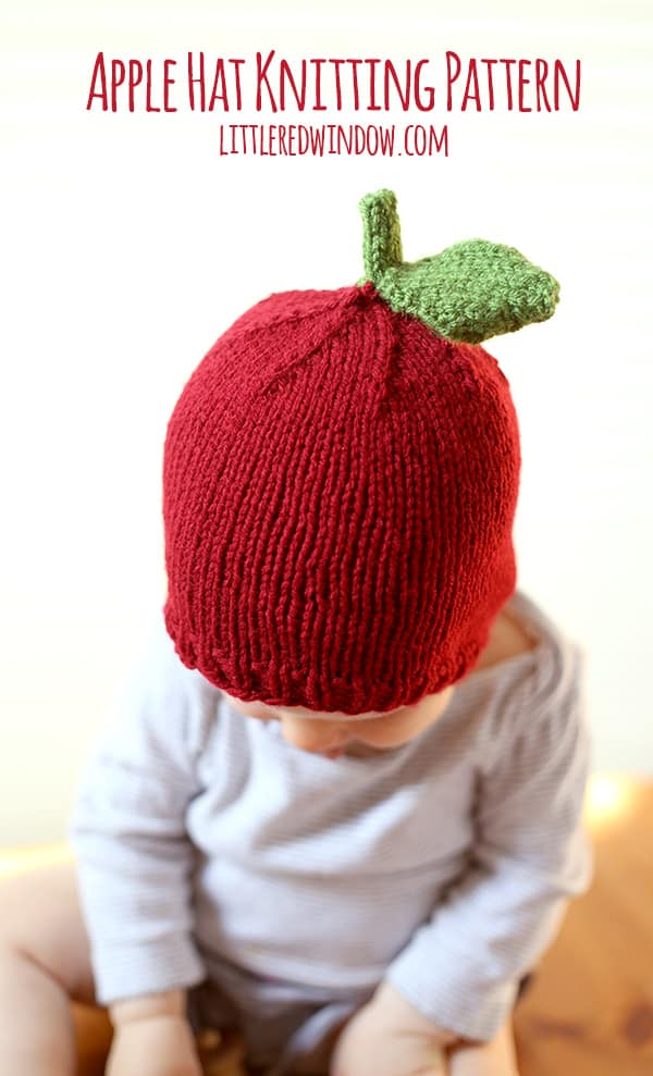 Apple Hat Knitting Pattern : Apple Hat Knitting Pattern - Little Red Window