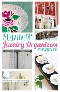15 Creative DIY Jewelry Organizers you can make yourself! | littleredwindow.com
