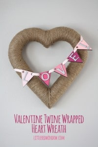 Valentine Twine Wrapped Heart Wreath | littleredwindow.com