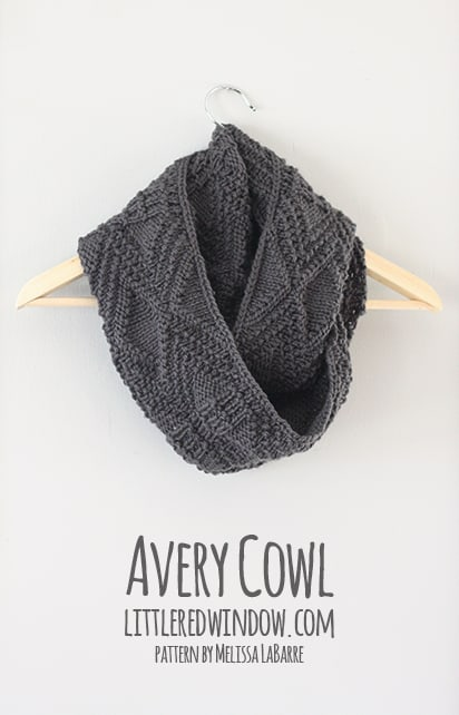 Avery Cowl | littleredwindow.com | You'll love this cozy geometric cowl knitting pattern by Melissa LaBarre as much as I do!