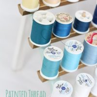 Painted Thread Storage | littleredwindow.com | Make your boring thread holder fabulous!