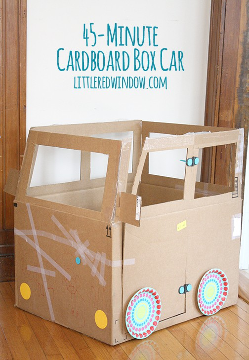 Upgrades For The 45 Minute Cardboard Box Car Little Red