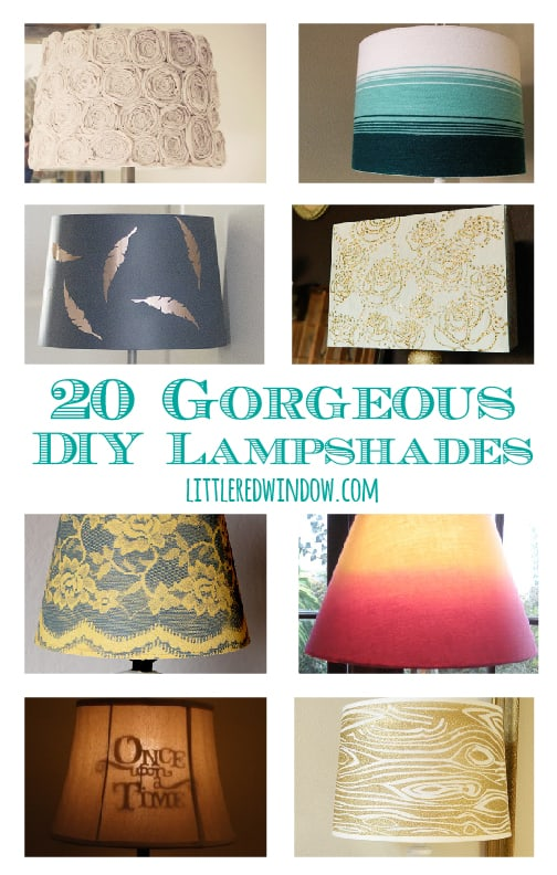 20 Gorgeous DIY Lampshades | littleredwindow.com