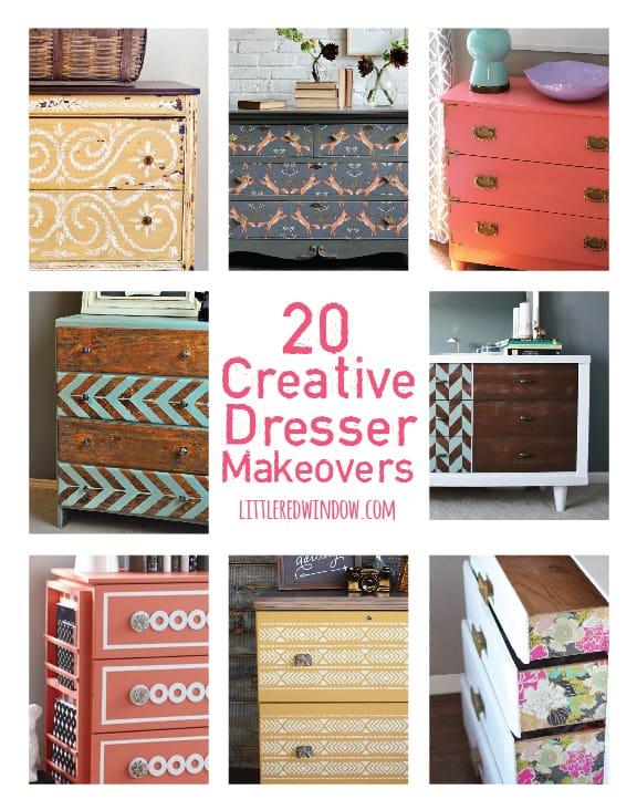 20 Creative DIY Dresser Makeover Ideas! | littleredwindow.com