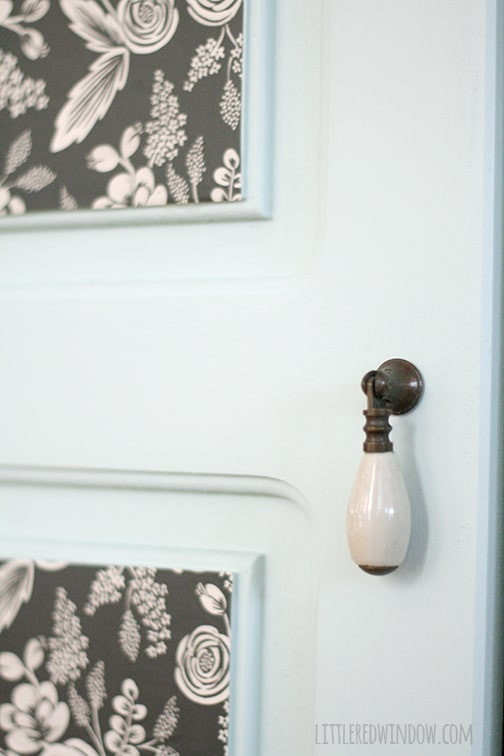 Painted Entryway Wood Cabinet | littleredwindow.com