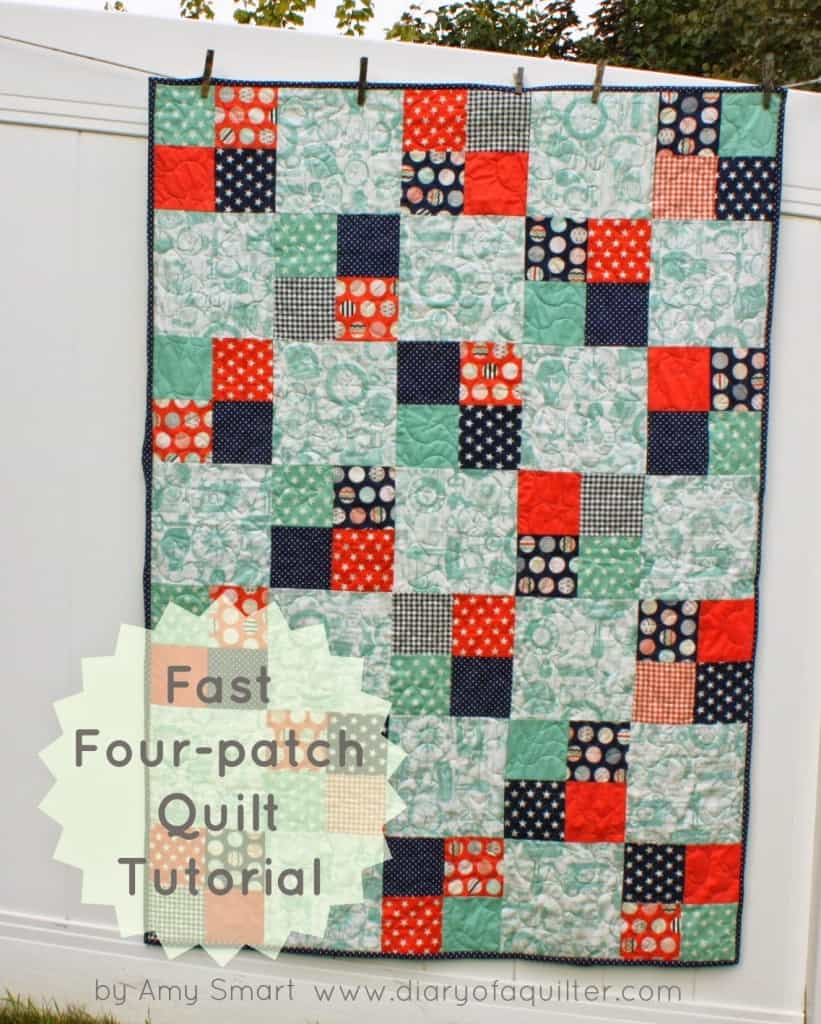 fast-four-patch-quilt-tutorial