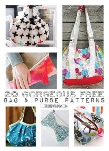 20+ Gorgeous FREE Bag & Purse Patterns   littleredwindow.com