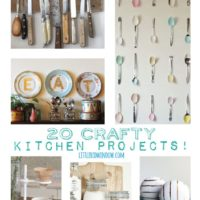 20 Crafty Kitchen Projects to spice up your kitchen! | littleredwindow.com
