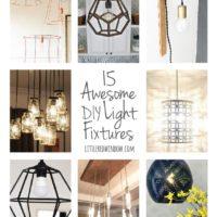 15 Awesome DIY Light Fixtures | littleredwindow.com