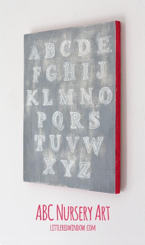 ABC Alphabet Nursery Art | littleredwindow.com