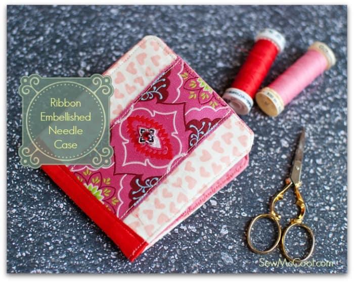Ribbon-embellished-needle-case
