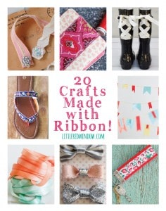 20 Crafts Made with Ribbon! | littleredwindow.com