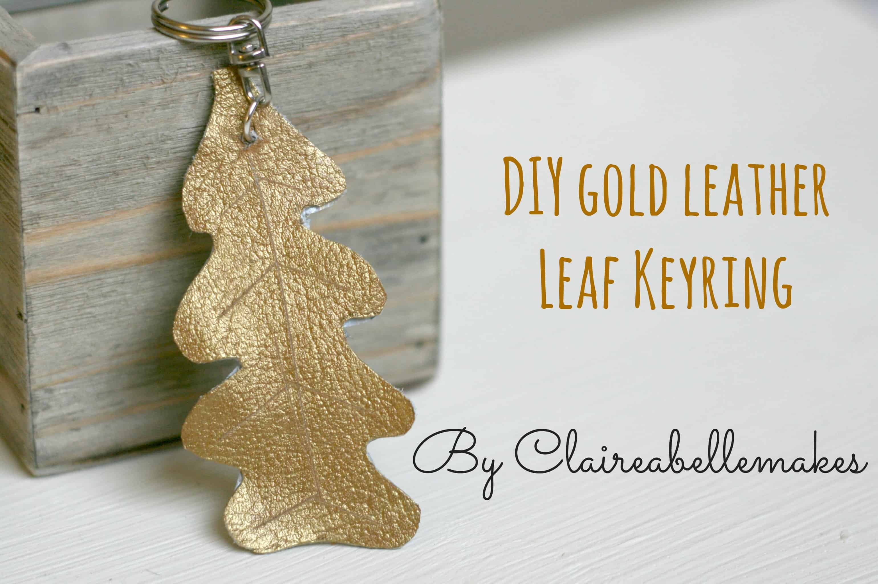 diy-gold-leather-leaf-keyring-by-claireabellemakes