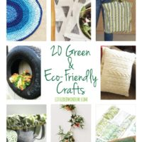 20 Green & Eco-Friendly Crafts! | littleredwindow.com