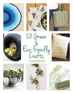 20 Green & Eco-Friendly Crafts!   littleredwindow.com