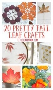 20 Pretty Fall Leaf Crafts | littleredwindow.com