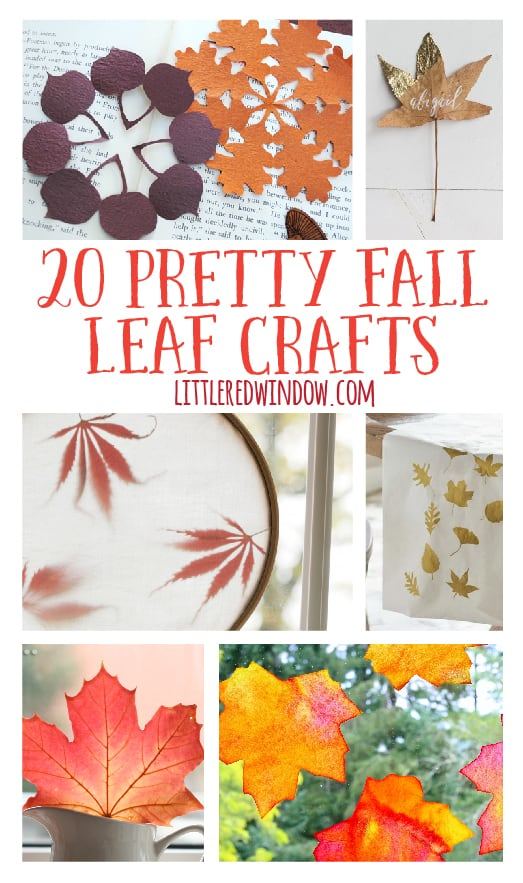 20 Pretty Fall Leaf Crafts | littleredwindow.com