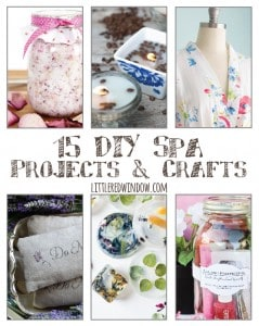 15 Relaxing DIY Spa Projects & Crafts | littleredwindow.com