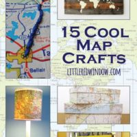 15 Cool Map Crafts, recycle and repurpose old maps! | littleredwindow.com