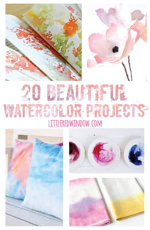 20 Beautiful Watercolor Projects | littleredwindow.com