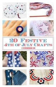 20 Festive 4th of July Crafts! | littleredwindow.com