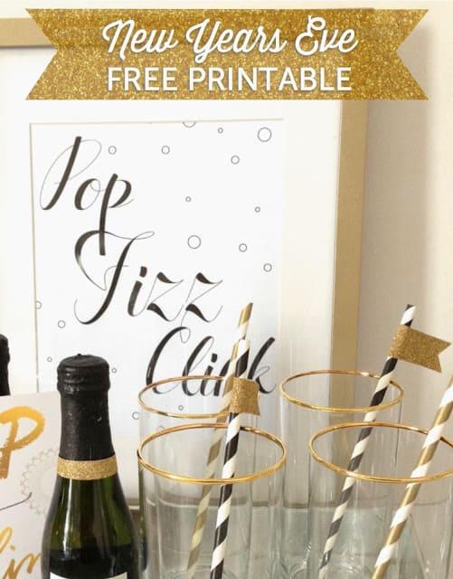 NYE Pop Fizz Clink Printable