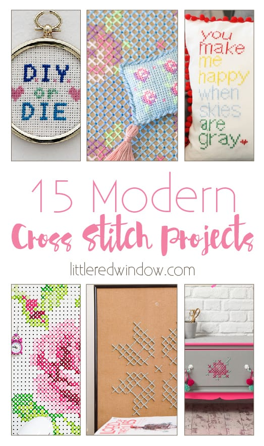 15 Modern Cross Stitch Projects   littleredwindow.com   Cross Stitch isn't just for grandmas anymore!
