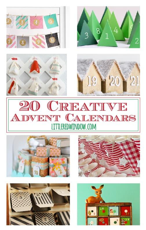 20 Creative Advent Calendars for Christmas!   littleredwindow.com