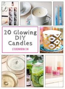 20 Glowing DIY Candles you can make! | littleredwindow.com