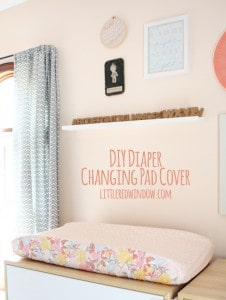 DIY Diaper Changing Pad Cover | littleredwindow.com | You'll be surprised at how easy these are to make with your own custom fabrics!