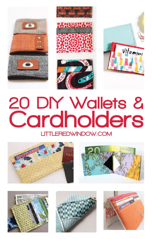 20 DIY Wallets and Cardholders to keep you organized! | littleredwindow.com