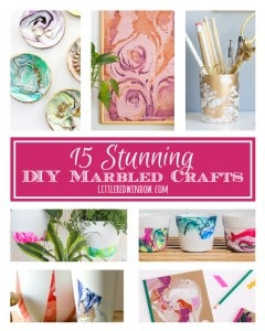 15 Stunning DIY Marbled Crafts!   littleredwindow.com