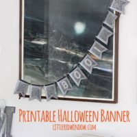 Printable Halloween Bunting| littleredwindow.com | Super easy to print and assemble your own spooky Halloween decor!