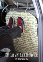 small car seat back protector