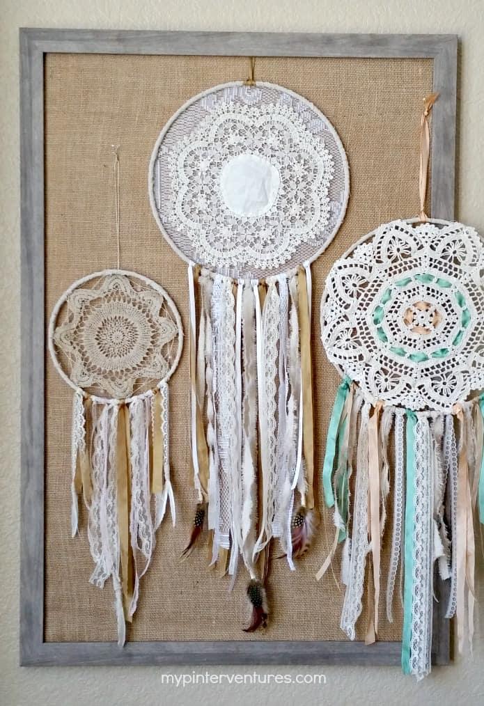 Vintage-Doily-Bohemian-Dream-Catchers