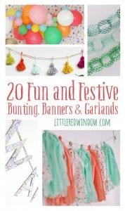 20 Fun and Festive Bunting, Banners & Garlands   littleredwindow.com