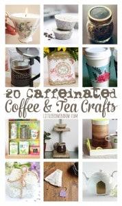 20 Caffeinated Coffee & Tea Crafts! | littleredwindow.com