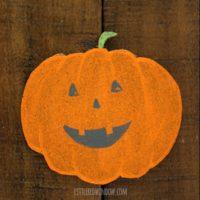 DIY Happy Halloween Pumpkin Coasters!   littleredwindow.com