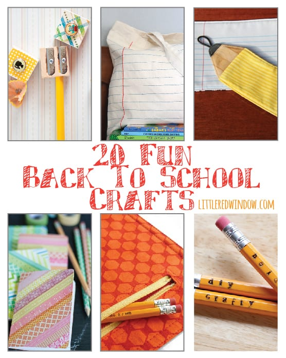 20  Fun Back to School Craft Projects! !
