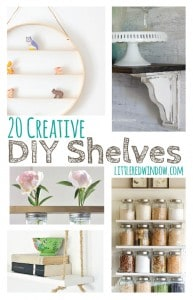 20 Creative DIY Shelves you can make yourself!   littleredwindow.com