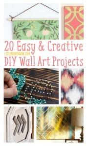 20 Easy & Creative DIY Wall Art Projects   littleredwindow.com