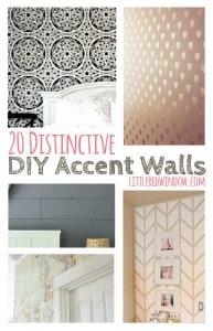20 Gorgeous and Distinctive DIY Accent Walls | littleredwindow.com
