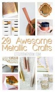 20 Awesome Metallic Crafts That Shine!   littleredwindow.com