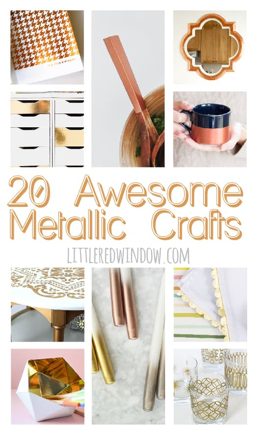 20 Awesome Metallic Crafts That Shine! | littleredwindow.com