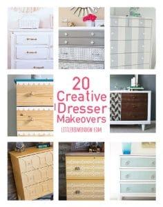 20 Creative DIY Dresser Makeover Ideas!   littleredwindow.com