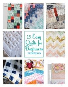 15 Easy Quilts for Beginners   littleredwindow.com