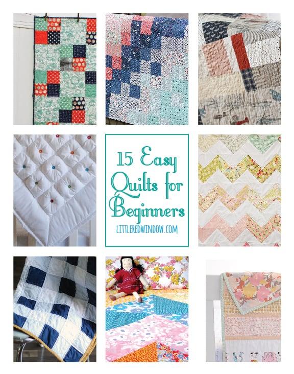 15 Easy Quilts for Beginners | littleredwindow.com