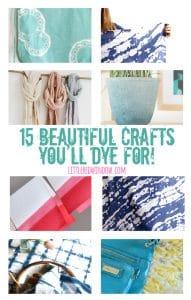 15 Beautiful Crafts You'll DYE for!   littleredwindow.com