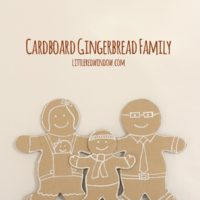 Cardboard Gingerbread Man Family | littleredwindow.com